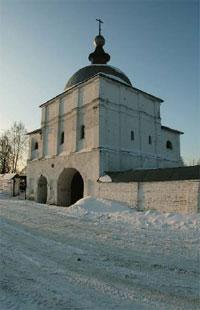 Надвратная церковь Преображения Господня. Начало XVII в.